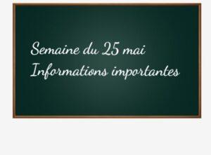 Informations sur la reprise obligatoire de la scolarité.