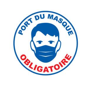 Port du masque obligatoire dans le règlement intérieur.