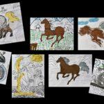 Grande lessive du 25 mars au collège de Mahina, ajout de dessins. (Mise à jour du 2 mai)
