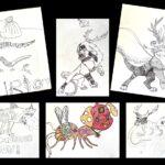 Grande lessive du 25 mars au collège de Mahina, de nouveaux dessins. (Mise à jour du 27 mai)