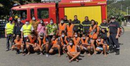 Cadets de la sécurité civile du collège de Mahina.